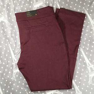 Dalia Burgundy Pull On Dress Pants